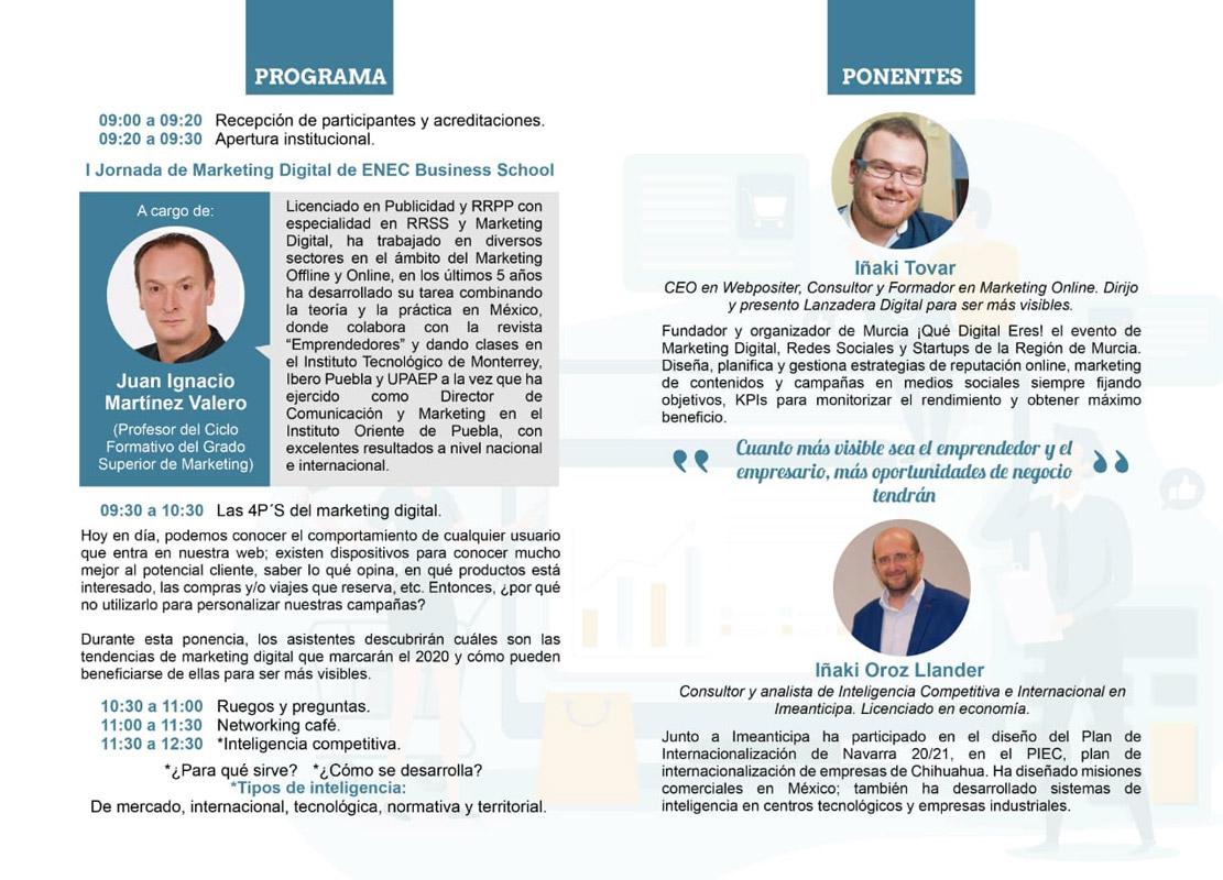 1ªJornada Marketing Digital en Enec (El Campico)