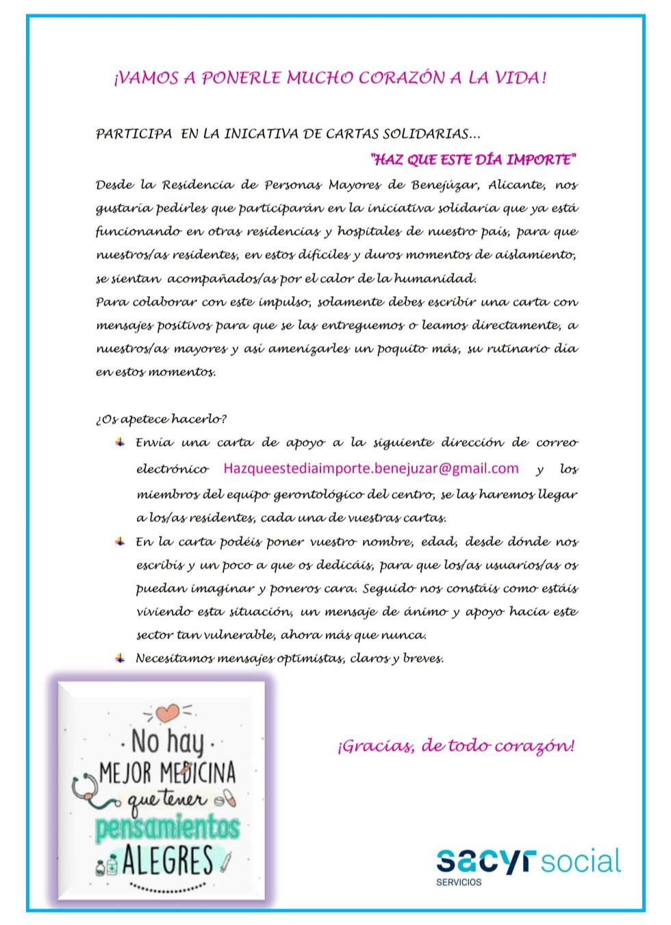 Cartas Solidarias El Campico @quedamos